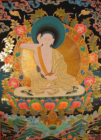 Vajrayana: Le chant des douze significations de l'esprit - Milarepa Milarepa_tankha-ae797-f4396