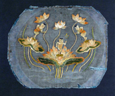 Art bouddhique le vajra Lotus-348ad