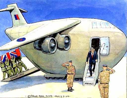 "The ""War on Terror"" Jack_straw_iraq_security_2003_airplane_cartoon_steve_bell_guardian"