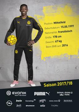 ¿Cuánto mide Ousmane Dembelé? - Altura - Real height Ousmane-Dembele_autogrammkarte