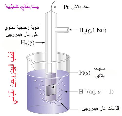 ماذا تعرف عن الخلايا الكهروكيميائية؟ Hydrogenelectrode