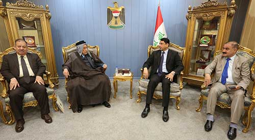 Al-Ghazi stresses the importance of complementarity of efforts between the legislative and executive authorities and the pace of progress to promote the country's economic, industrial and agricultural 2019-04-28-03