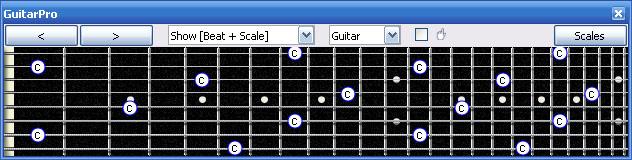 TECHNIQUES et MUSIQUES, IMPROVISATION pour GUITARE. 5 doigts main droite (6, 7 & 8 strings) Guitarpro6_c_natural_octaves