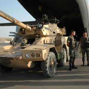 120 militaires français du 3ème régiment de parachutistes d'infanterie de la marine (RpiMa) de Carcassonne au sud de la France est arrivé le 18 décembre dernier à Ngaoundéré. Armee_Francaise030909300