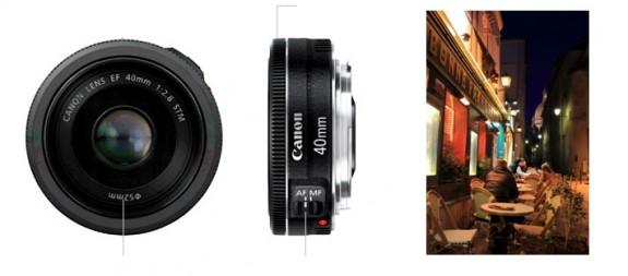 Canon ra mắt Canon EF 40mm f/2.8 STM Pancake-575x253