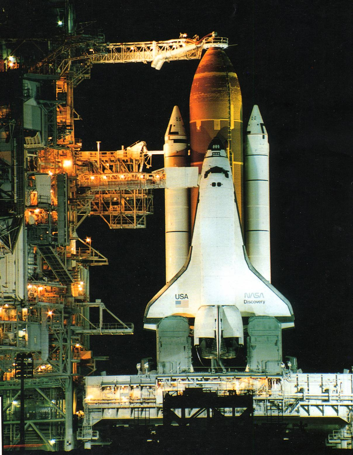 Discovery STS-51 (1993) 1993%20STS51%20pad