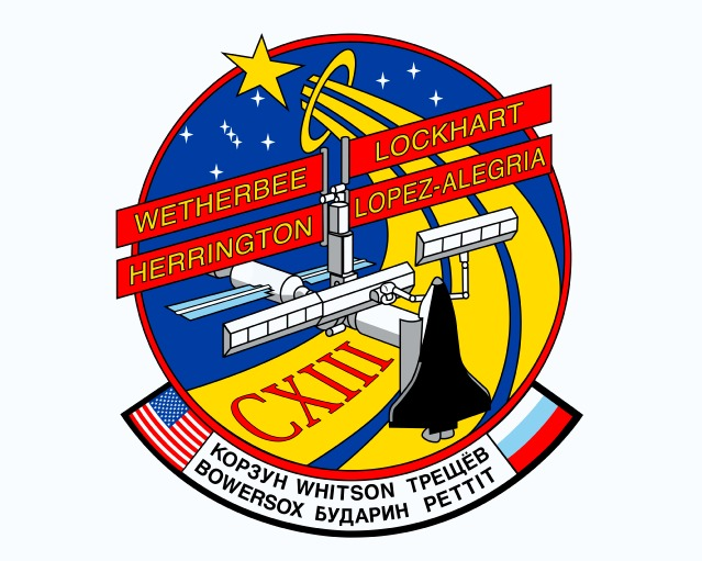 Animation assemblage ISS STS113patch