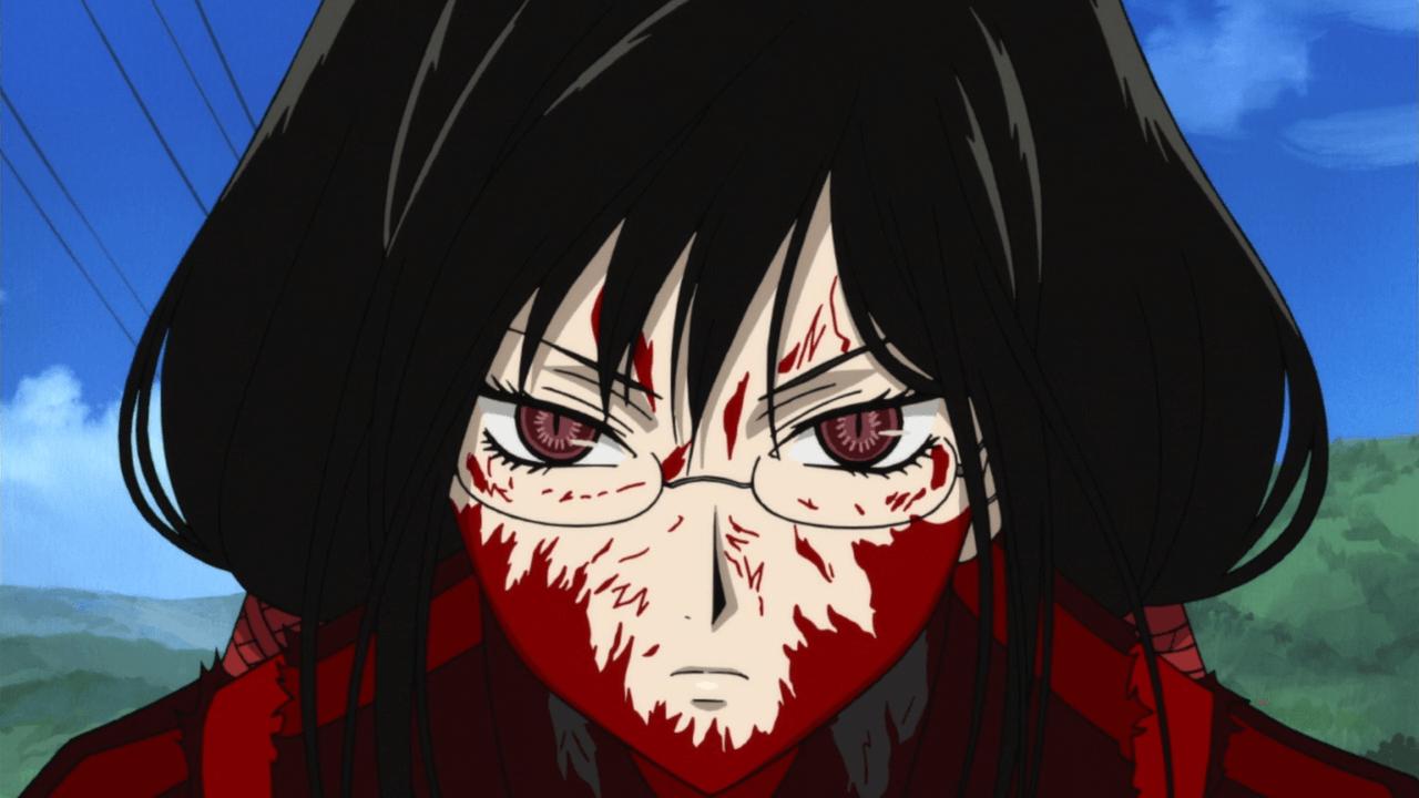 تقرير عن انمي الرعب والدماء blood  Blood-C-02