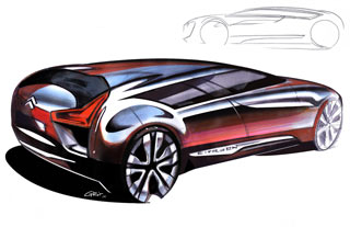 [Présentation] Le design par Citroën Citroen-C-Metisse-Design-Sketches-2