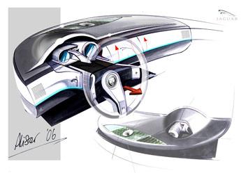 [Présentation] Le design par Jaguar Jaguar-C-XF-Concept-Interior-Sketch-2