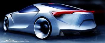 [Présentation] Le design par Toyota Toyota-FT_HS-Concept-Sketch-1