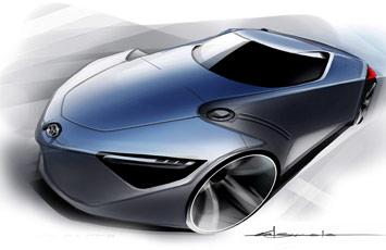 [Présentation] Le design par Toyota Toyota-FT_HS-Concept-Sketch-6