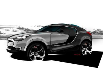 [Présentation] Le design par Hyundai _Hyundai-Crossover-SUV-concept-sketch