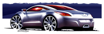 [Présentation] Le design par Peugeot Peugeot-308-RCZ-design-sketch-1