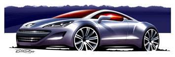 [Présentation] Le design par Peugeot Peugeot-308-RCZ-design-sketch-2