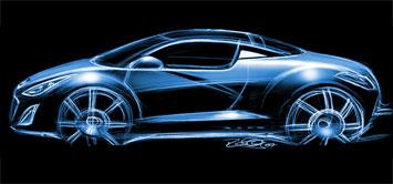[Présentation] Le design par Peugeot Peugeot-308-RCZ-sketch-3