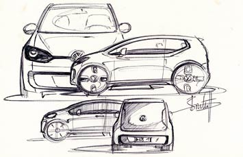 [Présentation] Le design par VW VW-Up-Concept-design-sketch-3