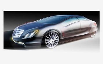 [Présentation] Le design par Mercedes Mercedes-F700-Concept-design-sketch-2