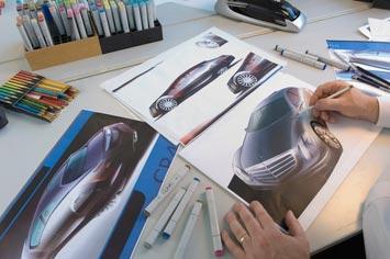 [Présentation] Le design par Mercedes Mercedes-F700-Concept-design-sketching-2