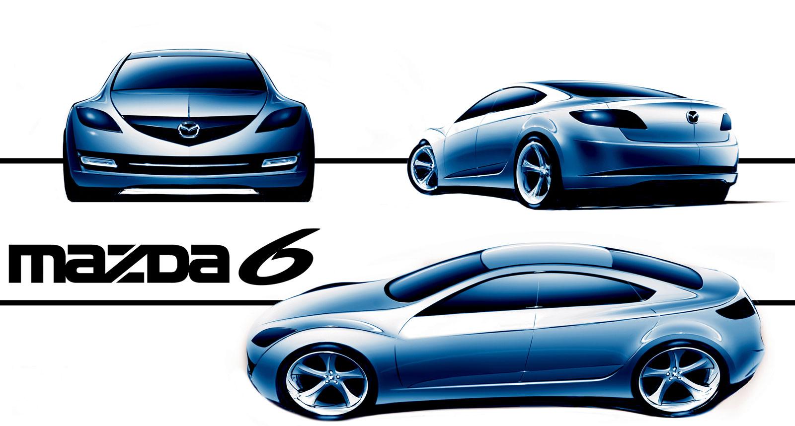 [Présentation] Le design par Mazda - Page 2 Mazda-6-Design-Sketch-6-lg
