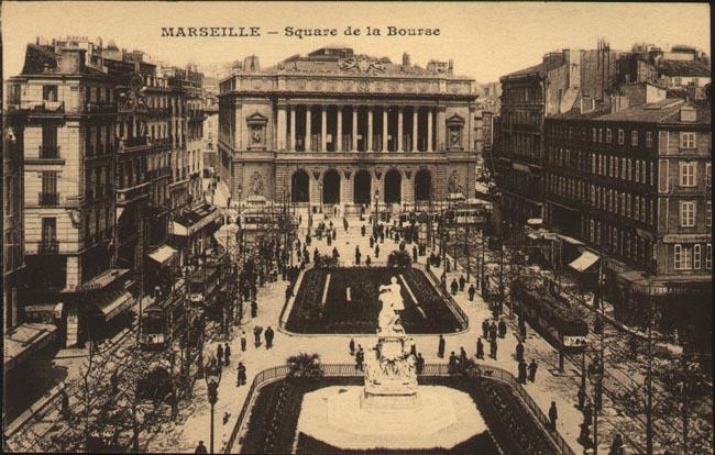 Villes et villages en cartes postales anciennes .. Marseille-bourse