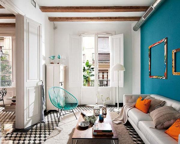 petite maison cosy HELP! Salon-bleu-et-blanc