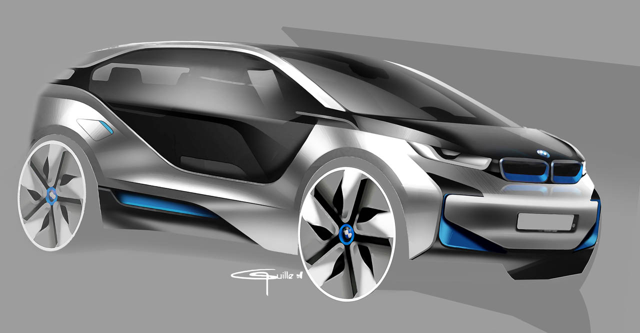 2019 - [Mercedes-Benz] EQS Concept  - Page 2 2011_BMW_i3_Concept_Design-Sketch_06