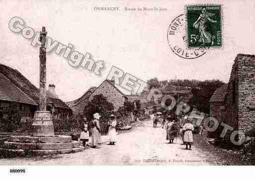Villes et villages en cartes postales anciennes .. Photos-carte-ormancey-cote-dor-PH019320-B