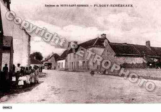 Villes et villages en cartes postales anciennes .. Photos-carte-flagey-echezeaux-cote-dor-PH019634-A