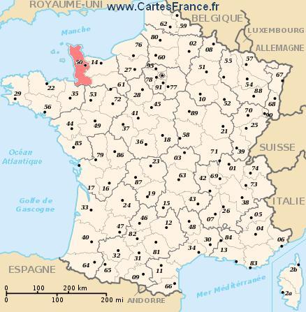LE BON NUMERO - Page 4 Carte-departement-Manche