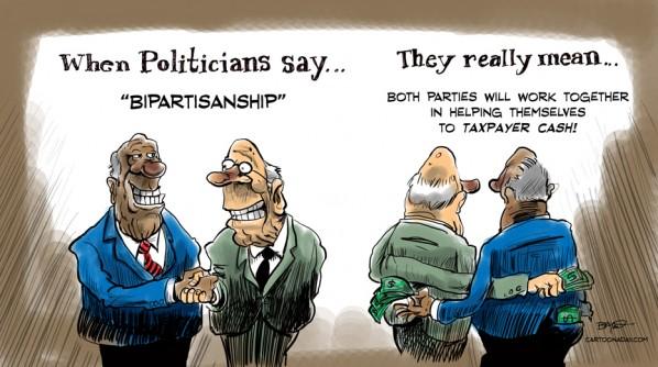 The Wall Street Journal Bipartisanship-cartoon-color-598x334