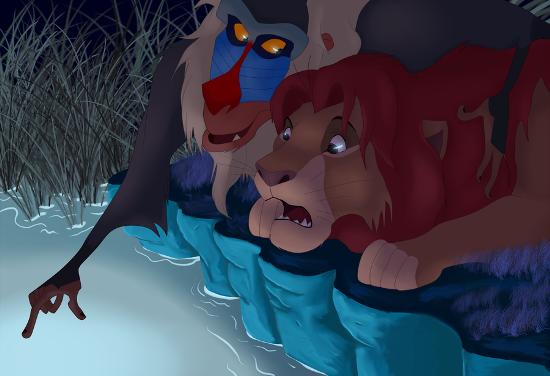 اندهاش مع ايوان وسيمبا .... Rafiki-Showing-Something-To-Simba