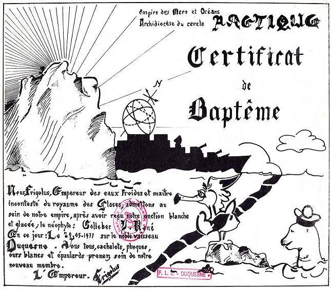bapteme du cercle polaire - [Les traditions dans la Marine] Passage du cercle polaire (Sujet unique) 061113063440208730
