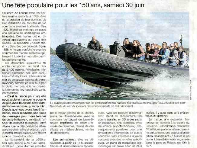 150 éme anniversaire des fusiliers marins à Lorient. 070609045646677637