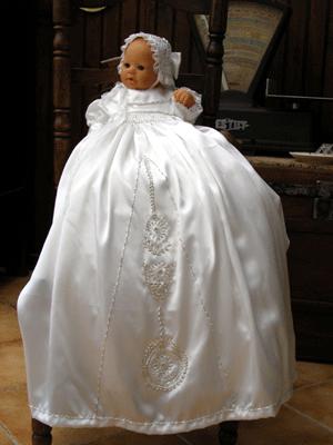 Bonnet de bb perlé fille (glasig) Photo117