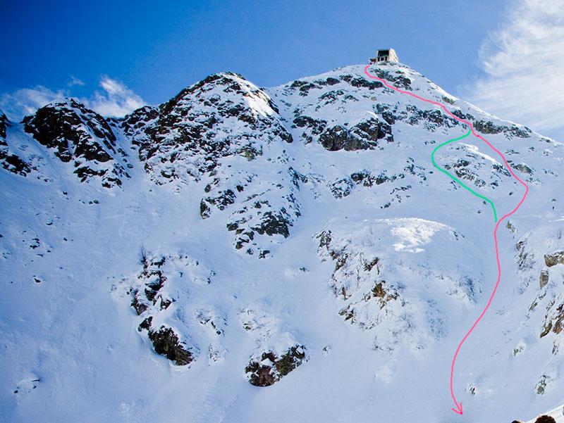 Valle Oropa, Monte Mucrone, versante nord: discesa dall'anticima Freeride_limbo_view