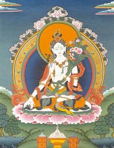 karmapa - Message de SS le Karmapa: Santé de Lama Yeshé Losal Rinpoché et Samyé Ling Tara%20blanche