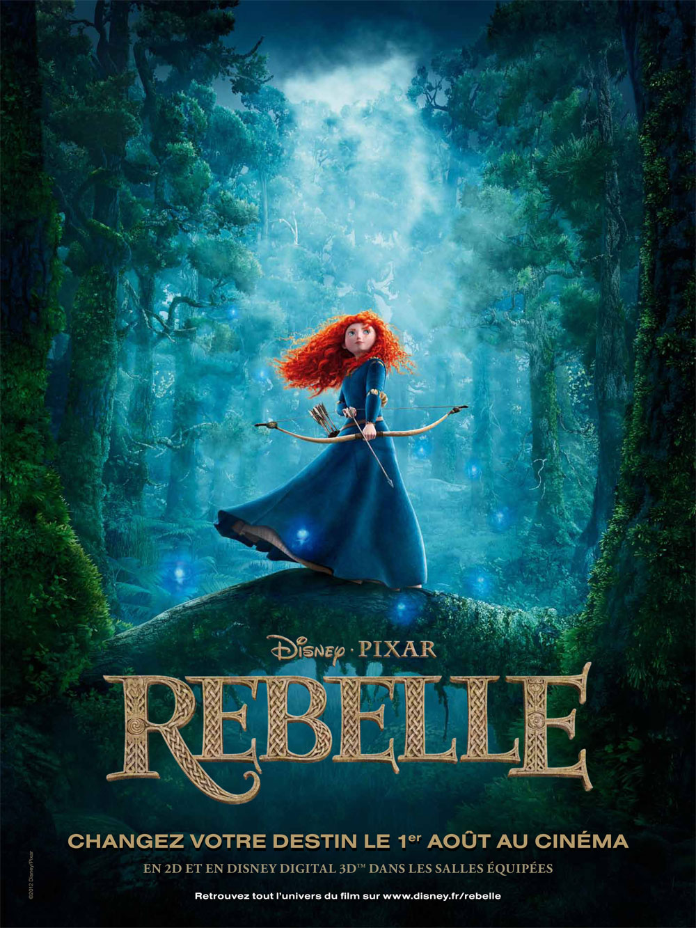 [104-3D] Rebelle (Brave) Rebelle-affiche