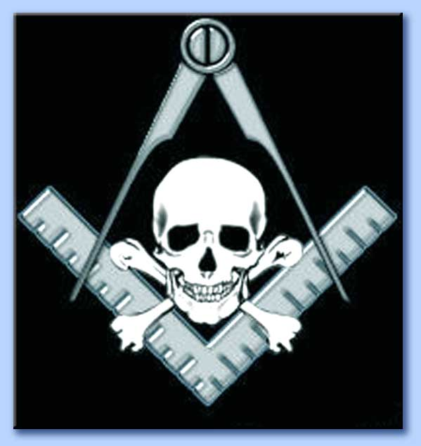 Il simbolo indissolubile dei pirati: IL JOLLY ROGER Masonic_square_and_compass