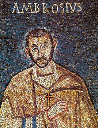 Sull'amicizia. De Saint-Exupery, Aristotele e  Sant'Ambrogio. 466-SantAmbrogio_MosaicoSacello