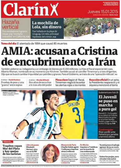 Caso Nisman, vinculos internacionales y servicios de inteligencia 15-de-enero-