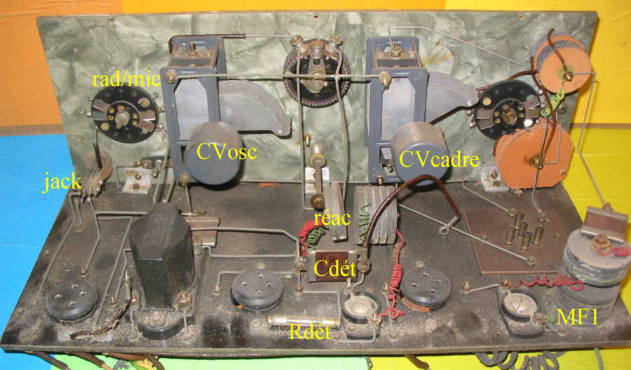 Recepteur portatif 4 lampes sans marque - Etat des lieux PG_DC02