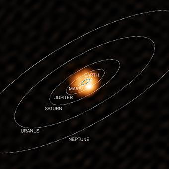 La imagen de Alma de una gigante roja da una visión del futuro del Sol  WHya_colour_solarsystem_72dpi_340x340