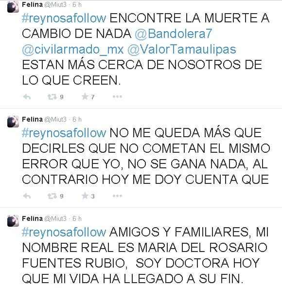 "Asesinan a integrante de 'Valor por Tamaulipas"" Tuitera-tamaulipas-asesinada-tuits"