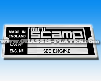 Scamp Chassis Plates. Scamp-owners