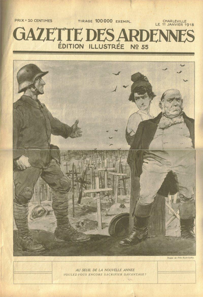 Gazette des Ardennes: journal des pays occupés Gazette_des_Ardennes110118