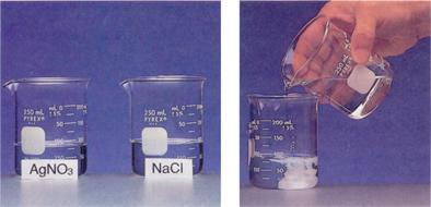 دروس ميدان  المادة وتحولاتها  Reaction-of-sodium-chloride-with-silver-nitrate