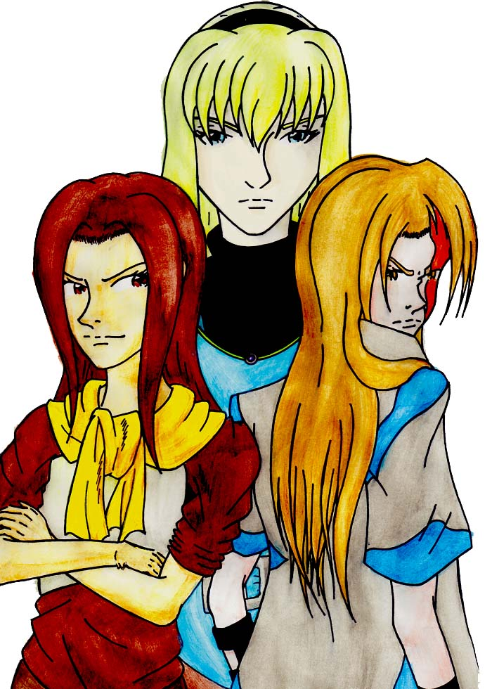 SHER ou Suikoden - The HighEast Rebellion TrioheroinesSHER