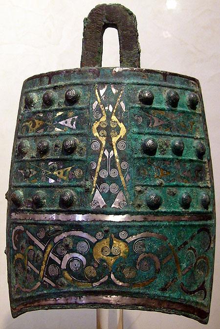 La sculpture chinoise ancienne Cloche-zhou-royaumes-combattants