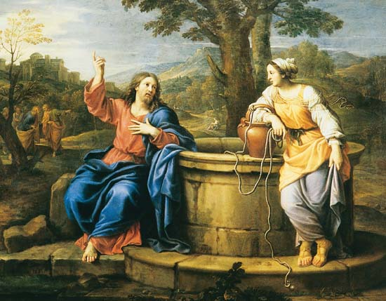 FETE DU SACRE COEUR DE JESUS Pierre-Mignard-le-Christ-et-la-Samaritaine